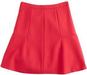 fluted skirt in double crepe