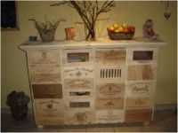 Unique Wine Crate cabinet | Craft Room Ideas | Pinterest
