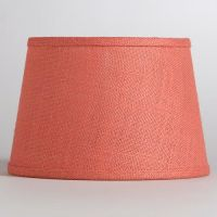 Coral Burlap Accent Lamp Shade | Coral & Aqua Home | Pinterest