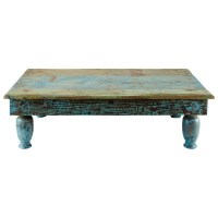 Rustic Turquoise Coffee Table | Country Charm | Pinterest