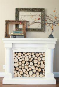 wood filled faux fireplace | Inspiring DIY | Pinterest