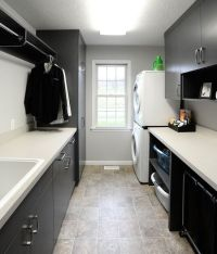 Laundry room with clothes rod. | For the Home | Pinterest