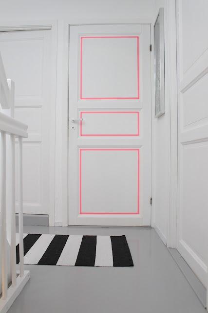Bright pink door accent!