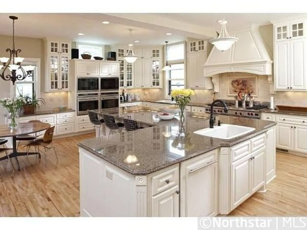 "l shaped kitchen island with cabinets and design An ""L"" shaped kitchen island. 
