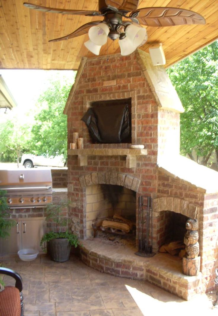 Outdoor Fireplace and Grill  Remodel  Pinterest