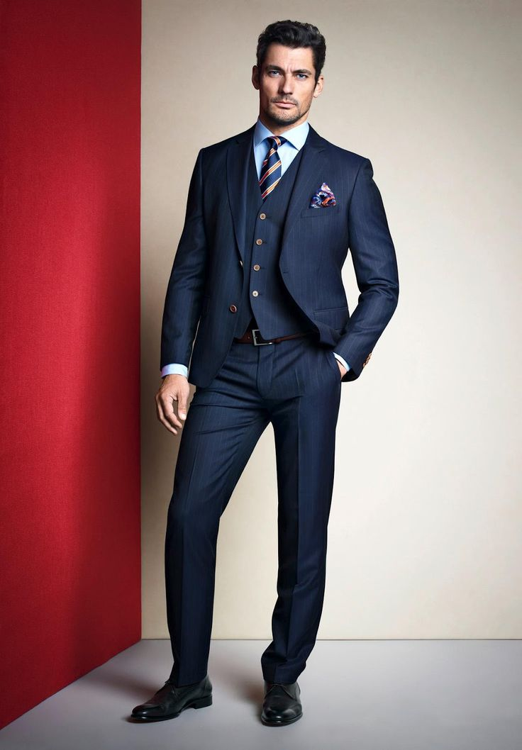 Perfectly tailored suit.