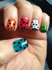 lady bug nails nail art