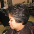 Women s short haircuts too heavy over the ear but age appropriate