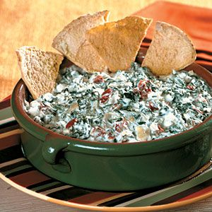 Slow-Cooker Appetizers | Cheesy Spinach-Artichoke Dip | MyRecipes.com