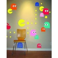 Pac Man Wall Decal | Cool Wall Decal | Pinterest