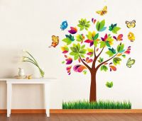 Removable Vinyl Tree Wall Decal Colorful Tree Wall Art