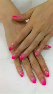 ombre pink nails nailing