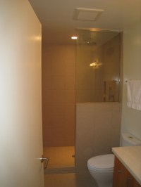 Walk in shower with a half wall and glass | Home & Garden ...