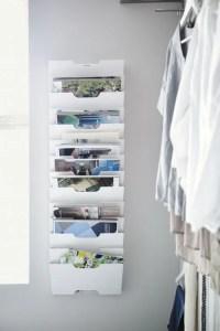 KVISSLE Wall magazine rack, white