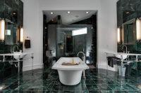 a green marble bathroom | BATHROOMS | Pinterest