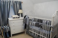 Navy/White Stripe nursery | Crib bedding ideas | Pinterest