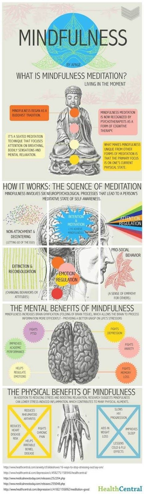 Infographic: What is Mindfulness Meditation? .... You're supposed to meditate at the beginning and end of each yoga class too.