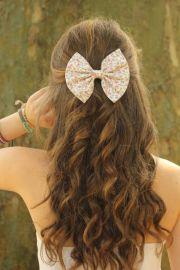 small floral print hair bows