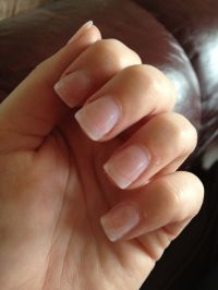Plain acrylic nails | // nails // | Pinterest