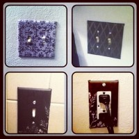 DIY: light switch / outlet covers