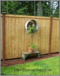 fence decor | Outdoor Projects | Pinterest