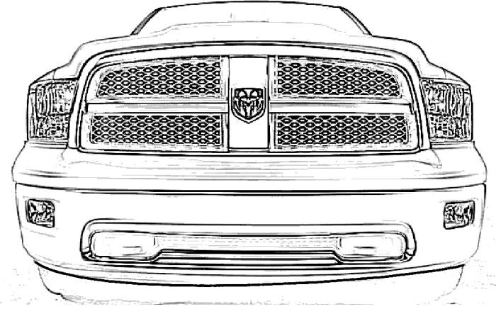 Jacked Up Dodge Truck Coloring Page Coloring Pages