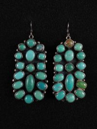 Vintage Navajo Earrings - Sterling Silver & Turquoise