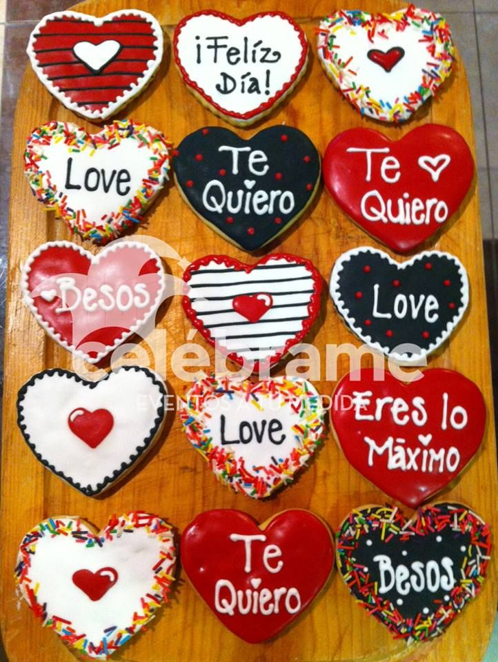Galletas de mantequilla de San Valentin! Valentine's day cookies!