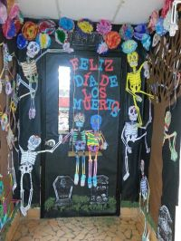 Day of the Dead classroom door.