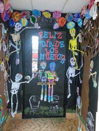 Day of the Dead classroom door.