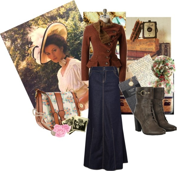 """""""Modest Fall Outfit"""" by christianmodesty ❤ liked on Polyvore"""
