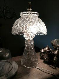 Antique vintage lead crystal lamp