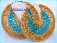 Crochet hoop Earrings | Arts and Crafts | Pinterest