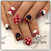 Mickey Mouse nail designs | Cute Nails Designs | Pinterest