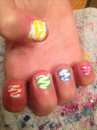 Cute little girl nails I did | Cool Nail Designs | Pinterest