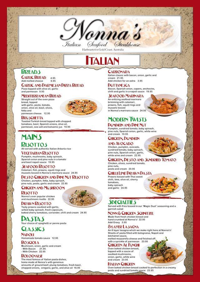 design your own restaurant menu