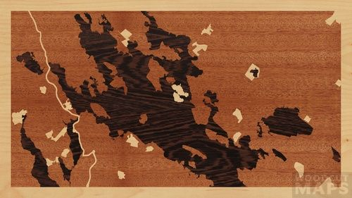 ... #62665 - Woodcut Maps: Handcrafted wood-inlay maps, designed by you