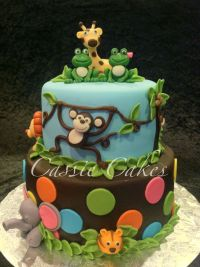 Living Room Decorating Ideas: Baby Shower Cakes Jungle Animals