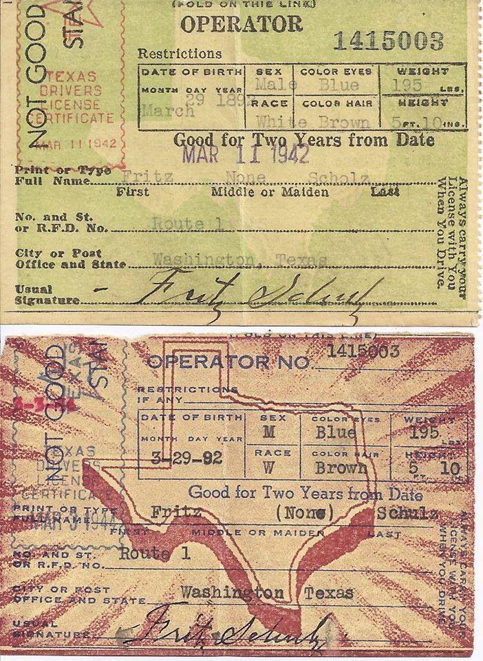 Texas Drivers License Star