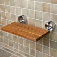 Teak Modern Folding Shower Seat | For the Home | Pinterest