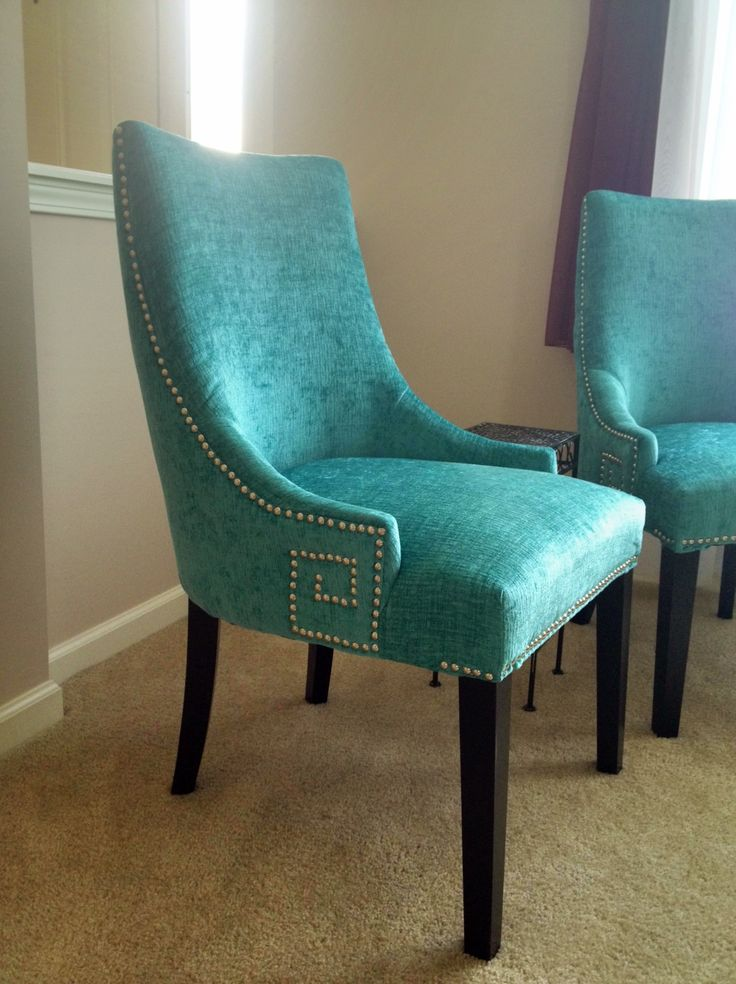Turquoise chair  Diningchairs  Pinterest