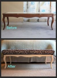 Coffee table turned into a bench... | Craft Ideas | Pinterest