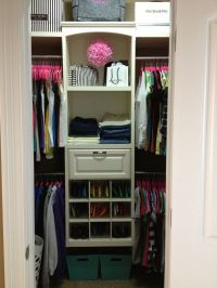 Small Walk-in Closet Organization :) | Organization ...