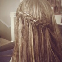 4 strand waterfall braid | Hair | Pinterest