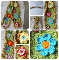 Crochet Flower Scarf Tutorial | Crochet Creations | Pinterest