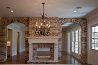 brick-double-sided-fireplace | Home | Pinterest