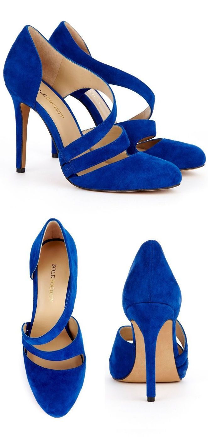 Cobalt Blue Criss-Cross Pumps ♥