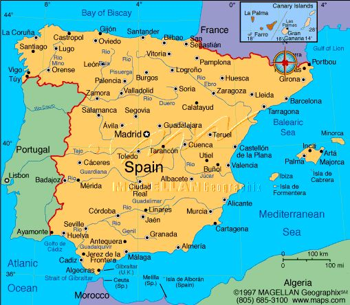 map of Spain with rivers and cities Geografía Pinterest