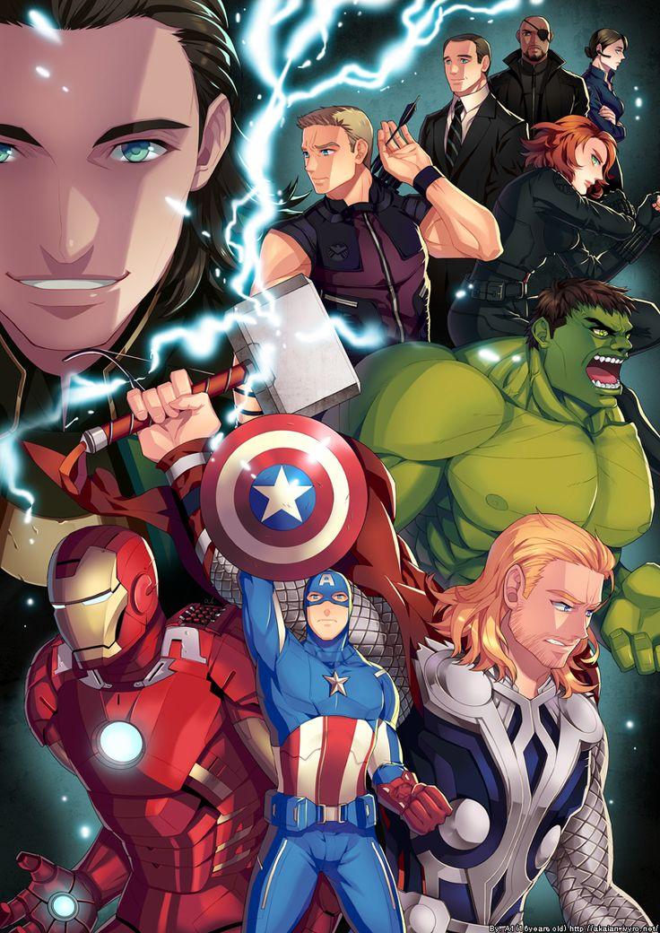 G33k Anime Girl Wallpaper The Avengers Anime Superheroes Pinterest