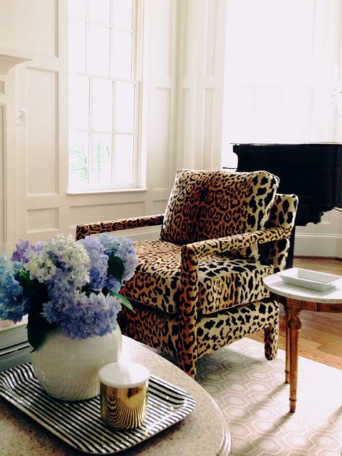 Leopard chair.